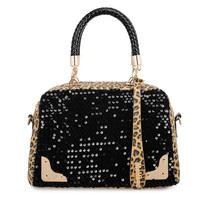 Bags 2013 women's handbag winter new arrival leopard print paillette bag shoulder bag handbag messenger bag