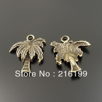 Whosesale Antiqued Style Bronze Tone Tree Jewelry Pendants Findings Charms 20mm 50PCS 33266