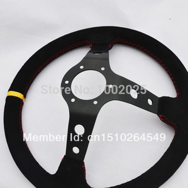 Momo Red Suede Steering Wheel Momo Steering Wheel Racing