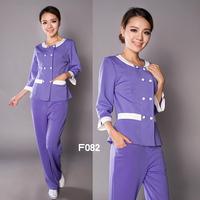 (10set-free ship) Beauty services work wear clothing medical beauty services f082  club work clothing Beautician suit