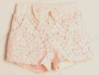 new arrival summer baby girl's fashion brand children high waist bow shorts shorts kids girls lace shorts