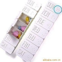 10pcs a lot Portable kit belt  weekly pill dispenser