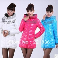 Free Shipping Long cultivate one's morality in the new cotton coat with thick warm warm letter