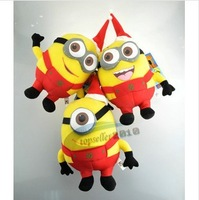 Christmas Gifts! 3D minion christmas Despicable Me Minions Plush Toys Jorge Stewart Dave for Children Christmas