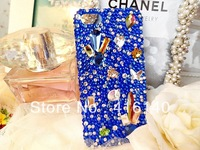 FREE SHIPPING bling rhinestone sea love with diamond back cover case for iphone 5/5s/5c iphone 4/4s