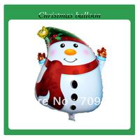 Free Shipping Christmas Snow Man Helium Balloon Christmas Day Balloon 100%Good Quality 100pcs/lot