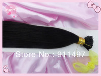 "AAAAA new arrival 18""20""22""24"" #1 I-tip hair Pre-bonded hair 100% brazilian remy hair extensions 100s/pack 1g/s in stock"