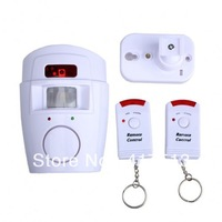 DHL Freeshipping  3PCS X  Home Motion Sensor 105dB Alarm with 2 Remote Control