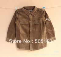 Children's clothing boy boy corduroy shirt long sleeve shirt jacket 1281561221