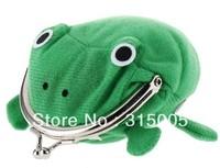Cartoon Frog Plush Coin Purse (Green)