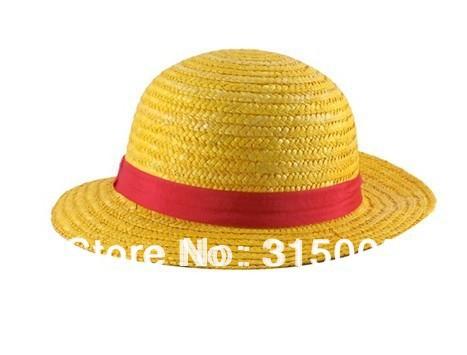 One Piece Anime Monkey D. Luffy Straw Hat Cap Cosplay (Yellow)(China (Mainland))