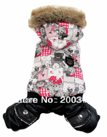 New Luxury lovers cotton cartoon bear boys  pet dogs winter coat Free shipping dogs clothes