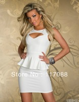 Free shipping ML17888 New Fashion 3 Avalibale Colors White New design Hot Colorful Strips Dress Sheath Sexy Mini Dress