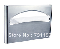 wall mounted hotelroom bar home stainless steel  WC toilet seat cover mat paper dispenser