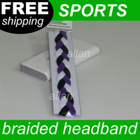 New Arrival hot sale three ropes woven headband soft braided mini headband for sports