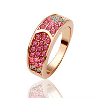 South Korea's new 18 k rose gold zircon ring ring fine jewelry wholesale multicolor sell like hot cakes female model gold 585