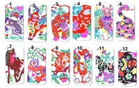 12pcs/lots The twelve animals of the Chinese Zodiac Cell Phone hard white case cover for iphone 4 4G 4S +free shipping