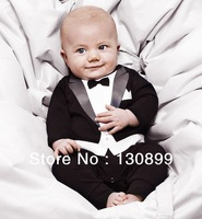 Baby Romper, baby boy's Gentleman modelling romper infant long sleeve climb clothes kids outwear/clothes Freeshipping