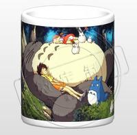 Ghibli Cup Anime cups Hayao Miyazaki cups Totoro paper discoloration mug water cup gift  Free shipping