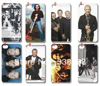10pcs/lots Rush Band Legend Cell Phone hard white case cover for iphone 4 4G 4S +free shipping