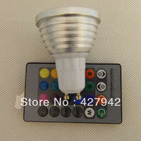 3W GU10 Remote Control Dimmer Toning RGB LED Umbrella Bulb Lamp AC85-265V Light Colorful Changeable Lamp Spotlight Free Shipping