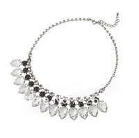 Crystal water drop statement neckalce Shiny glass alloy shorts women fashion 2013 bijouterie necklace