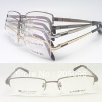 wholesale C8101 high classic unisex half-rim pure titanium flexi hinge IP vacuum color rectangle optical frames free shipping