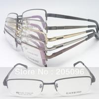 wholesale lot C8100 high classic man half-rim pure titanium flexi hinge IP vacuum color rectangle optical frames free shipping