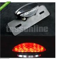 Red Motorcycle LED Brake License Plate Holder Turn Signal Running ATV Tail Light