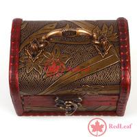 [Hot] Vintage Jewelry Pearl Necklace Bracelet Storage Organizer Wood Case Gift Box 02 wholesale