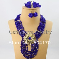 2013 Fashion African Beads Jewelry Set 5 Rows Crystal Beads Costume Jewelry Set Wedding Jewelry GS036