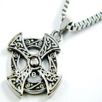 Wholesale! Free Shipping!316L Stainless Steel pendant fashion cross pendants of black oil charms for jewelry making