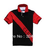 Free Shipping 2013 New Style  Men's Country polo shirts,brand cotton polo shirts for men, Big Horse Strip Cotton Polo Shirt
