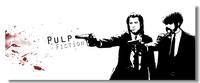 Pulp Fiction Movie Silk Wall Poster 60x24,50x20,30x12 inch Big Room Prints Classic Quentin Tarantino  Uma Thurman (010)