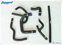 Free shipping Silicone Radiator Hose Kits for Austin Rover Mini Cooper 1.3L 1990-2000 Host Kit 1161 5pcs Black
