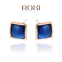 ROXI Christmas classic Stud Earrings ,rose gold glated genuine Austrian crystals handmade fashion jewelry,2020052550