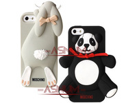 wholesale+retail 10pcs/lot New Arrival 3D Cute Silicon Panda Case For iPhone 4 4s 5 5g 5s with retail package Free Shipping