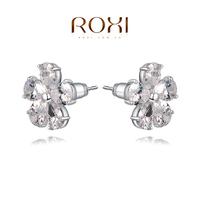 Christmas Delicate Large zircon Flower Earrings,Gift to girlfriend is beautiful,Pure handmade fashionable elegance,2020812615