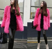 Fox fur outerwear autumn and winter medium-long women's fur overcoat short design set