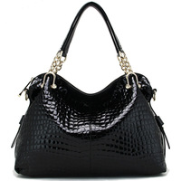 2013 japanned leather women's genuine leather handbag leather bag women's one shoulder handbag cross-body bags crocodile pattern
