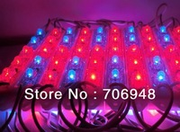 Waterproof  IP65 LED Plant Light Red/Blue Color 1pc=3 blue leds+2 red leds DC12V 91x14mm