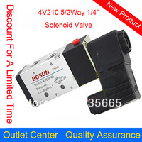 4V210-08 5/2 Way Pneumatic Valve, DC24V 10pcs/lot 2 Position/5 Ports Gas Solenoid Valve, Replacement Of AirTAC Solenoid Valve