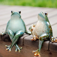 Ceramic home decoration birthday gift lovers frog