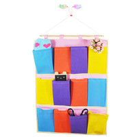High quality colorful non-woven multi-pocket storage bag storage bag 85g