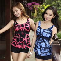 2012 1222 split plus size plus size hot spring swimsuit female swimwear