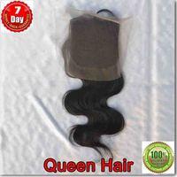 Virgin brazilian top lace closure body wave ,100% virgin remy unprocessed raw human hair free shipping