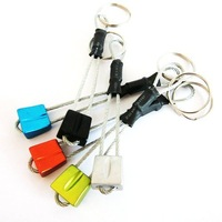 Free Shipping   Assorted 4pcs/ Lot Durable Keychain Aluminum Alloy Carabiner  Camping Tent Rope Accessories