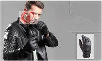 Outdoor sports gloves, ski gloves, warm winter men's motorcycle rider riding gloves