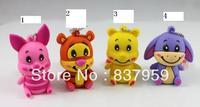 cartoon cute animals usb 2.0 memory flash stick thumb pen drive free shipping