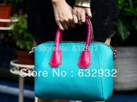 Free Shipping 2014 Korean Cut Fashion Soft Surface PU Circle Pendant Chain Shoulder Bags